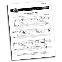 Barbershop Harmony Society : God Bless The USA - 4 Charts and Parts CD : TTBB : Sheet Music & Parts CD :  : 8838