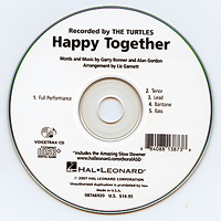 Close Harmony For Men : Happy Together - Parts CD : Parts CD :  : 884088138738 : 08746920