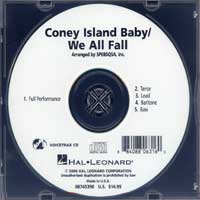 Close Harmony For Men : Coney Island Baby / We All Fall - Parts CD : TTBB : Parts CD :  : 884088063160 : 08745390