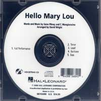 "Close Harmony For Men : <span style=""color:red;"">Hello Mary Lou</span> - Parts CD : TTBB : Parts CD : 884088068905 : 08745490"