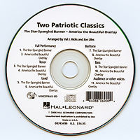 Close Harmony For Men : Two Patriotic Classics - Parts CD : TTBB : Parts CD : 884088069094 : 08745496
