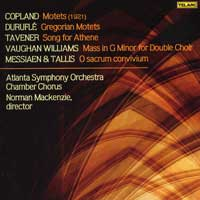 Atlanta Symphony Chamber Chorus : A Cappella Works -Vaughan Williams Mass in G Minor : 00  1 CD : Robert Shaw :  : 80654