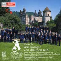 Aurelius Boys' Choir : German Folk Songs : 00  1 CD :  : 150031