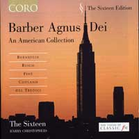 Sixteen : Barber - Agnus Dei : 00  1 CD : Harry Christophers : Samuel Barber : 16031