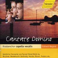 Knabenchor Capella Vocalis : Cantate Domino : 00  1 CD : Eckhard Weyand :  : HNS 98406