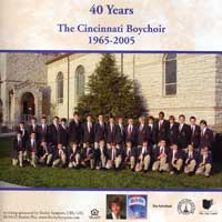 Cincinnati Boychoir : 40 Years : 00  1 CD