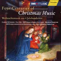SWR Stuttgart Vocal Ensemble : Four Centuries of Christmas Music : 00  1 CD : Paul Goodwin :  : 93114