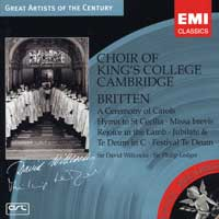 Choir of King's College, Cambridge : Britten : 00  1 CD : David Willcocks : Benjamin Britten : 62797.2