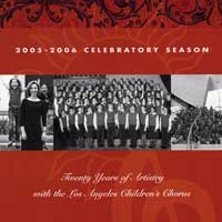 Los Angeles Children's Chorus : 20 Years of Artistry : 00  1 CD : Anne Tomlinson