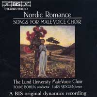 Lund University Male Choir : Nordic Romance - Songs For Male Voices : 00  1 CD :  : 206