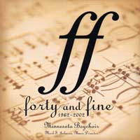 Minnesota Boychoir : Forty and Fine : 00  1 CD : Mark S. Johnson :