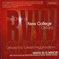 Oxford New College Choir : Mass in G Minor : 00  1 CD : Edward Higginbottom :  : 84441