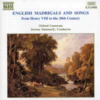 Oxford Camerata : English Madrigals And Songs : 00  1 CD : Jeremy Summerly :  : 8.553088