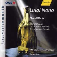SWR Stuttgart Vocal Ensemble : Luigi Nono : 00  1 CD : Robert Huber :  : 93022
