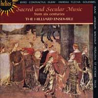 Hilliard Ensemble : Sacred & Secular Music from 6 Centuries : 00  1 CD : Paul Hiller :  : 55148