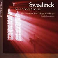 Choir of Clare College : Sweelinck - Cantiones Sacrae : 00  2 CDs : Timothy Brown : Jan Sweelinck : KTC 2025