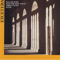 Quink Vocal Ensemble : William Byrd Choral Music : 00  1 CD : William Byrd : 1031