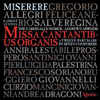 : Allegri: Miserere & the Music of Rome : 00  1 CD : Andrew Carwood :  : CDA67860