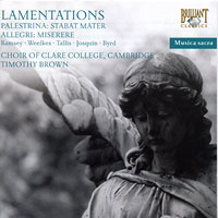 Choir of Clare College : Lamentations : 00  1 CD : Timothy Brown :  : 93775