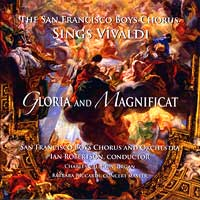 San Francisco Boys Chorus : Sings Vivaldi: Gloria and Magnificat : 00  1 CD : Ian Robertson
