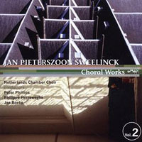 Netherlands Chamber Choir : Sweelinck Choral Works Vol 2 : 00  1 CD : Jan Sweelinck : ktc 1319