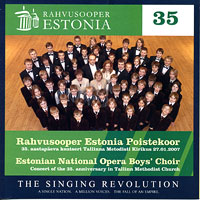 Estonian National Opera Boys' Choir : Rahvusooper  : 00  1 CD :