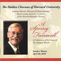 Harvard Glee Club : A Spring Farewell : 00  2 CDs : Jameson Marvin