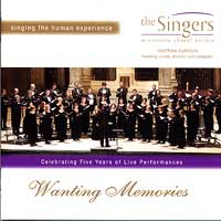 Minnesota Choral Artists : Wanting Memories : 00  1 CD : Matthew Culloton