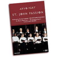 Hilliard Ensemble : Arvo Part - St. John Passion : DVD : Paul Hillier : Arvo Part : D4564
