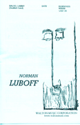 Baloo Lammy : SATB : Norman Luboff : Norman Luboff Choir : Sheet Music : W3030 : 073999731811