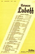 Reflections : SATB : Norman Luboff  / Peter Luboff : Norman Luboff Choir : Sheet Music : W3034