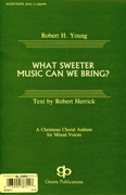 What Sweeter Music Can We Bring? : SATB divisi : Robert Herrick : Robert Herrick : Sheet Music : 08738711 : 073999387117
