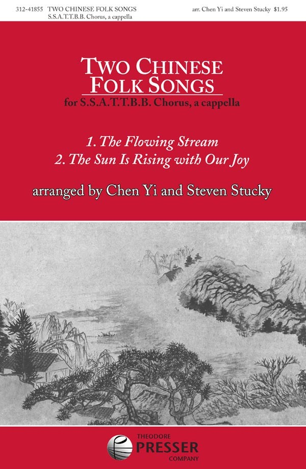 Two Chinese Folk Songs : SSAATTBB : Chen Yi : Sheet Music : 312-41855