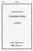 Evening Song : SSA : Zoltan Kodaly : Zoltan Kodaly : Sheet Music : 48003683 : 073999568271