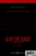 As My Eyes Search  : SATB divisi : Imant Raminsh : Sheet Music : 48004638 : 073999471335