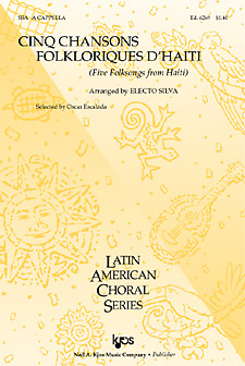 Five Folksongs From Haiti : SSA : Electo Silva : Sheet Music : 6269 : 8402704081