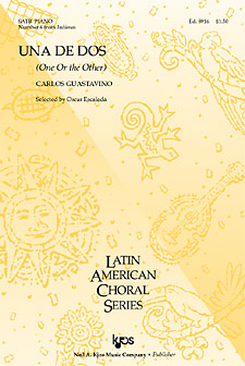 Una de Dos : SATB : 8916 : Sheet Music : 8916 : 8402700071