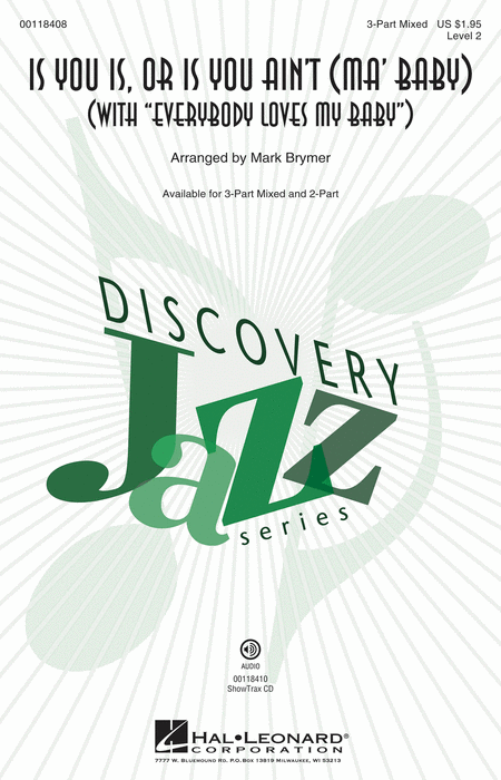 Is You Is or Is You Ain't (Ma' Baby) : 3-Part : Mark Brymer : Sheet Music : 00118408 : 884088898649