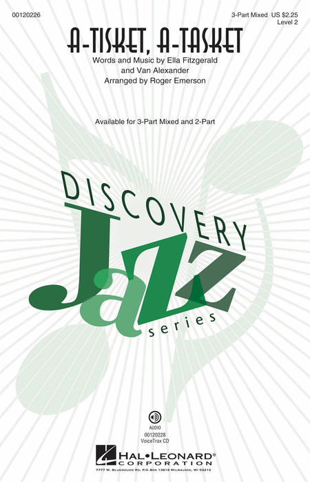 A-Tisket, A-Tasket : 2-Part : Roger Emerson : Ella Fitzgerald : Sheet Music : 00120227 : 884088916442