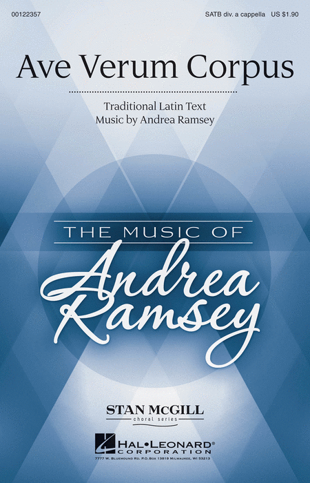 Ave Verum Corpus : SATB divisi : Andrea Ramsey : Andrea Ramsey : Sheet Music : 00122357 : 884088951344
