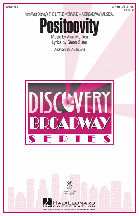 Positoovity : 2-Part : Jill Gallina : Alan Menken : The Little Mermaid : Sheet Music : 00124158 : 884088964030