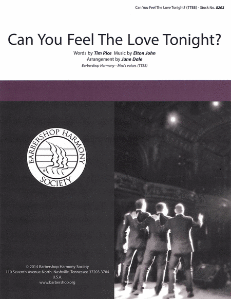 Can You Feel the Love Tonight? : TTBB : June Dale : Elton John : The Lion King : 00137946 : 812817020313