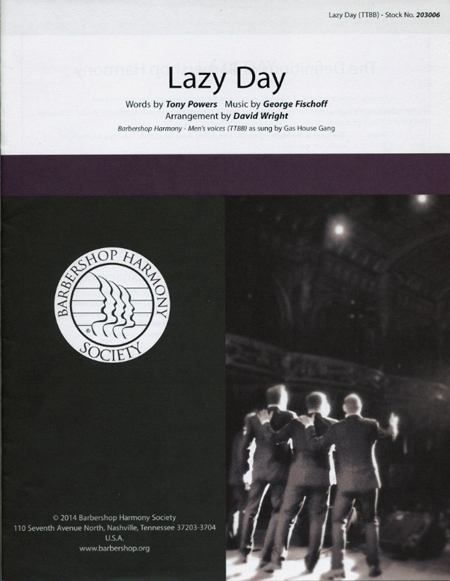 Lazy Day : TTBB : David Wright : George Fischoff : Spanky and Our Gang  : Sheet Music : 00137950 : 812817020405