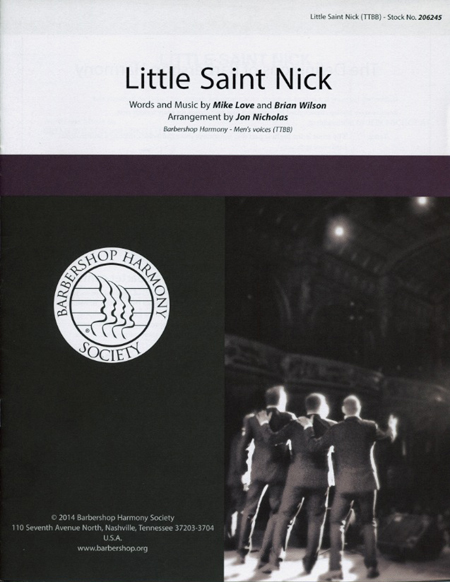 Little Saint Nick : TTBB : Jon Nicholas : Brian Wilson : Beach Boys : Sheet Music : 00137953 : 812817020283