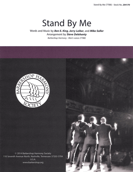 Stand by Me : TTBB : Steve Delehanty : Jerry Leiber : Ben E. King : Showtrax CD : 00137959 : 812817020429