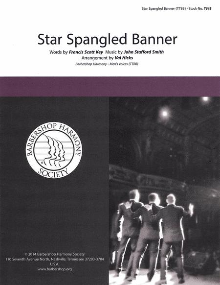 The Star-Spangled Banner : TTBB : Val Hicks : Francis Scott Key : Sheet Music : 00137960 : 812817020269