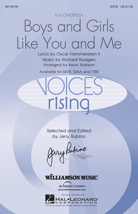 Boys and Girls Like You and Me : SATB : Kevin Robison : Richard Rodgers : Cinderella : Songbook : 00139748 : 888680039042
