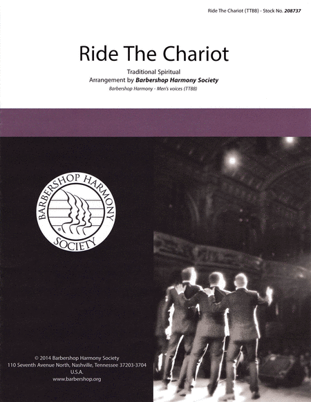 Ride the Chariot : TTBB : Barbershop Harmony Society : Traditional : Sheet Music : 00145199 : 812817020214