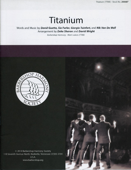 Titanium : TTBB : Deke Sharon and David Wright : David Guetta : 00151482 : 812817020870