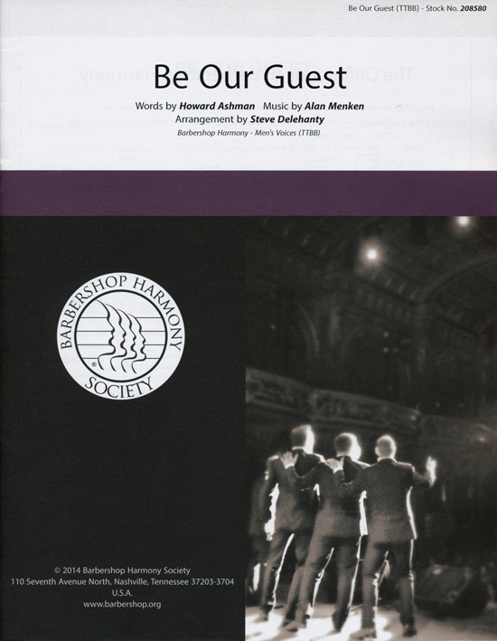 Be Our Guest : SSAA : Steve Delehanty : Alan Menken : Beauty and the Beast : Sheet Music : 00151485 : 812817020894